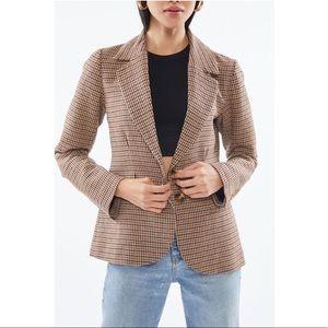UO Checkered Tailored Blazer